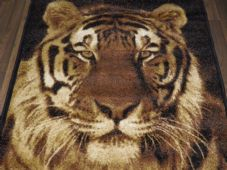 Modern Approx 6x4 120x170cm Woven Backed Tiger Face Rugs Top Quality Beiges New